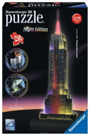 Puzzle 3D Night Edition Empire State Building Gioco (Ravensburger 3D Puzzle)