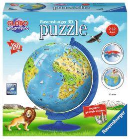 Puzzle 3D Mappamondo Animali Gioco (Ravensburger 3D Puzzle)