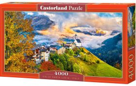 Puzzle 4000 pezzi Castorland Colle di Santa Lucia | Puzzle Paesaggi Montagna Italia