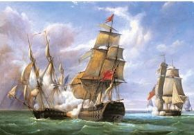 "Combat between the French Frigate ""La Cannonière"" and the English Vessel ""The Tremendous"" (Puzzle 3000 pezzi Castorland)"