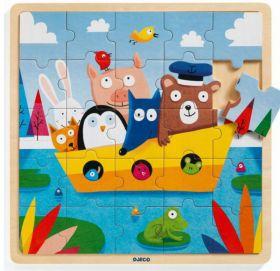 Puzzle in Legno Puzzlo Boat | Puzzle DJECO