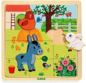 Puzzle in Legno Puzzlo Farm | Puzzle DJECO