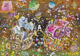 Puzzle Mordillo 6000 pezzi Clementoni The Kiss