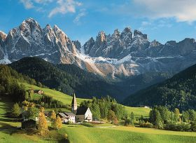 Puzzle Paesaggi 1500 pezzi Ravensburger Santa Maddalena, Dolomiti