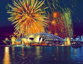 Puzzle Città 2000 pezzi Ravensburger Fuochi d'Artificio a Sydney