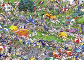 Puzzle 1000 pezzi Heye Cycle Race, Blachon su ARSLUDICA.com