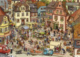 Puzzle 1000 pezzi Heye Market Place, Göbel & Knorr su ARSLUDICA.com