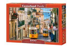 Puzzle 1000 pezzi Lisbon Trams, Portugal Castorland su arsludica.com