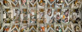 Puzzle 1000 pezzi Panorama Michelangelo: Volta della Cappella Sistina Ravensburger su ARSLUDICA.com