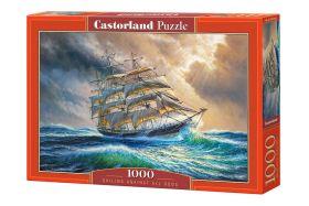 Puzzle 1000 pezzi Sailing Against All Odds Castorland su arsludica.com