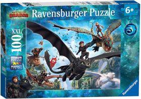 Puzzle 100 Pezzi XXL Ravensburger Dragons A