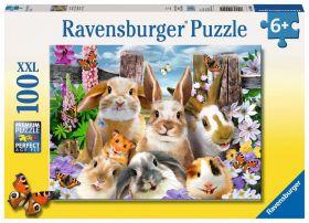 Puzzle 100 Pezzi XXL Ravensburger Selfie di Coniglietti