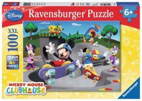 Puzzle 100 Pezzi XXL Ravensburger Topolino Skate Park