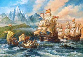 Puzzle 1500 pezzi Castorland Adventure to the New World su arsludica.com