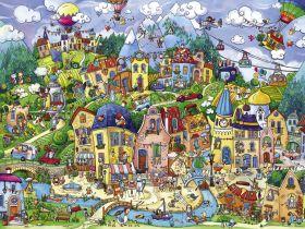 Puzzle 1500 pezzi Happytown, Berman Heye su ARSLUDICA.com