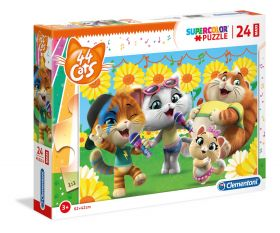 Puzzle 24 pezzi maxi 44 Gatti Clementoni su ARSLUDICA.com
