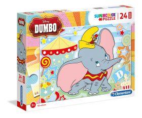 Puzzle 24 pezzi maxi Disney Dumbo Clementoni su ARSLUDICA.com
