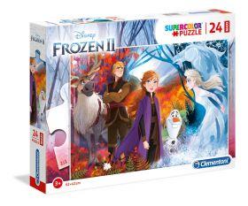 Puzzle 24 pezzi maxi Disney Frozen 2 Clementoni su ARSLUDICA.com