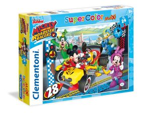 Puzzle 24 pezzi maxi Disney Mickey Roadster Racers Clementoni su ARSLUDICA.com