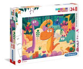 Puzzle 24 pezzi maxi Jurassic Friends Clementoni su ARSLUDICA.com