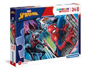 Puzzle 24 pezzi maxi Marvel Spider-Man Clementoni su ARSLUDICA.com