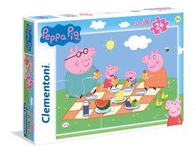 Puzzle 24 pezzi maxi Peppa Pig Clementoni su ARSLUDICA.com