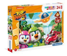 Puzzle 24 pezzi maxi Top Wing Clementoni su ARSLUDICA.com