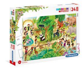 Puzzle 24 pezzi maxi Zoo Clementoni su ARSLUDICA.com