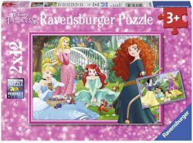 Puzzle 2x12 Pezzi Ravensburger Disney Princess