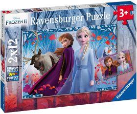 Puzzle 2x12 Pezzi Ravensburger Frozen