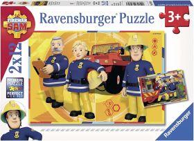 Puzzle 2x12 Pezzi Ravensburger Sam il Pompiere
