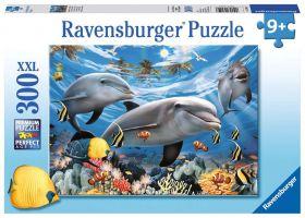 Puzzle 300 pezzi XXL Delfini Ravensburger su ARSLUDICA.com