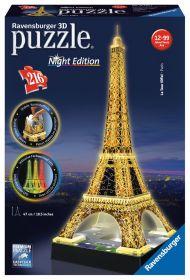 Puzzle 3D Night Edition Tour Eiffel Gioco (Ravensburger 3D Puzzle)