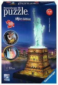 Puzzle 3D Night Edition Statua della Libertà Gioco (Ravensburger 3D Puzzle)