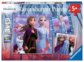 Puzzle 3x49 pezzi Frozen 2 Ravensburger su ARSLUDICA.com