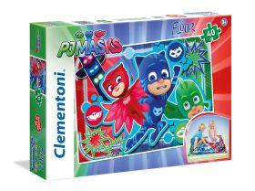 Puzzle 40 pezzi maxi PJ Masks Clementoni su ARSLUDICA.com
