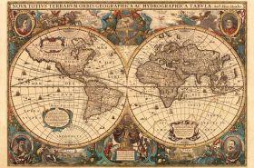 Puzzle Mappamondo 5000 pezzi Ravensburger Antico Mappamondo