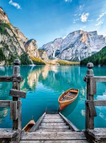 Puzzle Paesaggi 500 pezzi Clementoni Braies Lake