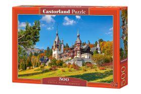 Puzzle 500 pezzi Castorland Castle Peles, Romania   Puzzle Città Paesaggi