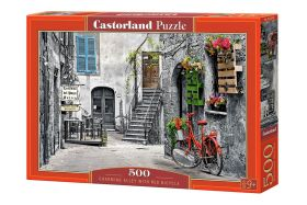 Puzzle 500 pezzi Charming Alley with Red Bicycle Castorland su arsludica.com
