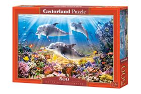 Puzzle 500 pezzi Castorland Dolphins Underwater   Puzzle Animali Mare