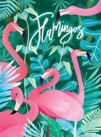 Puzzle Fantasy 500 pezzi Clementoni Fantastic Animals Flamingos