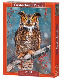 Puzzle 500 pezzi Castorland Great Horned Owl   Puzzle Animali