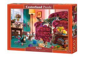 Puzzle 500 pezzi Naughty Kittens Castorland su arsludica.com
