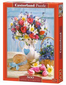Puzzle 500 pezzi Castorland Spring in Flower Pot | Puzzle Fiori