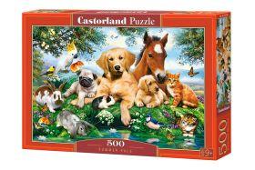 Puzzle 500 pezzi Castorland Summer Pals   Puzzle Animali