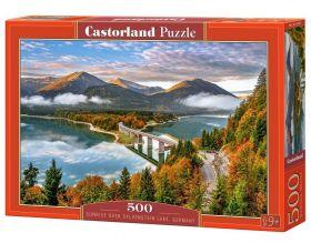 Puzzle 500 pezzi Sunrise over Sylvenstein Lake, Germany Castorland