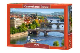 Puzzle 500 pezzi Castorland View of Bridges in Prague | Puzzle Paesaggi Città