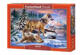Puzzle 500 pezzi Castorland Wolfish Wonderland   Puzzle Animali