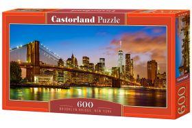 Puzzle 600 pezzi Brooklyn Bridge, New York Castorland su arsludica.com